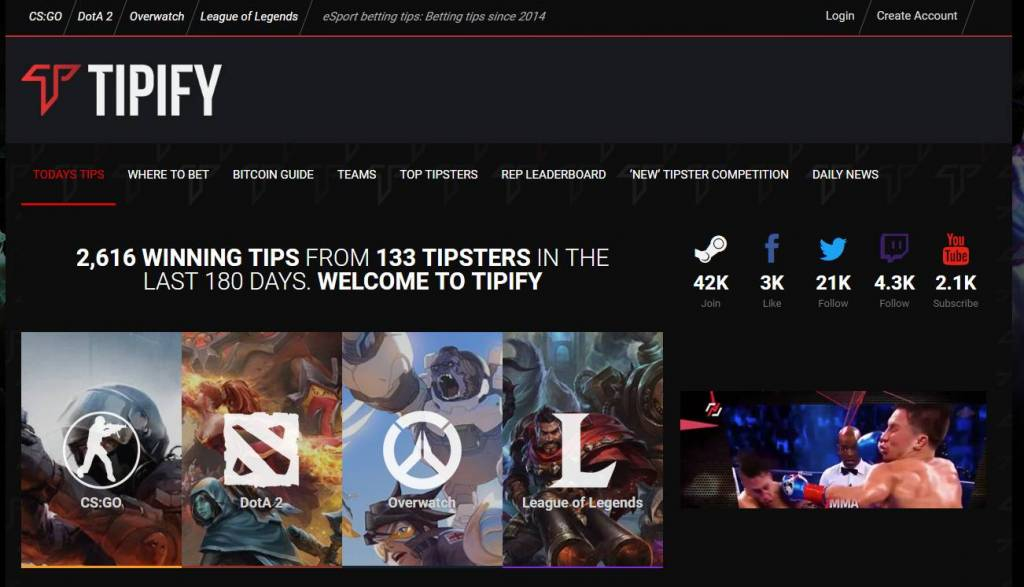 Betting Predictions for CS:GO, Dota 2 and LoL - Tipify