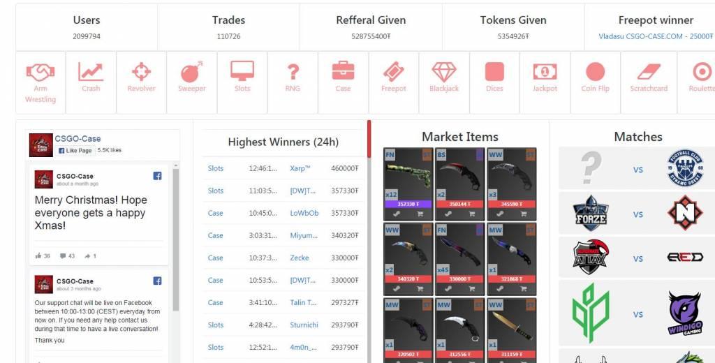 CSGOCase - gambling site | Real Money Bonus Code | Top100