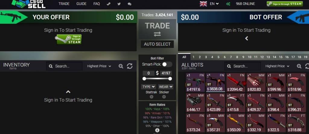 CSGO Trading Bot - CSGOSell.com