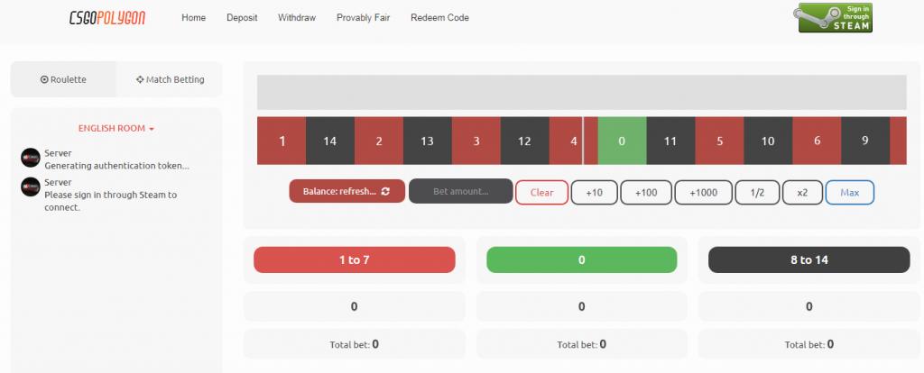 CSGOPolygon - Roulette - Match Betting