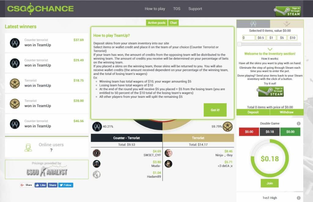 CSGOchance.com - CSGO Jackpot Site