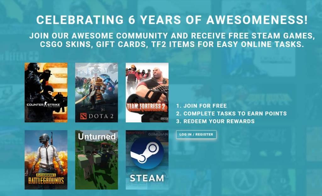 GameTame.com - Earn Free CS GO PUBG Skins