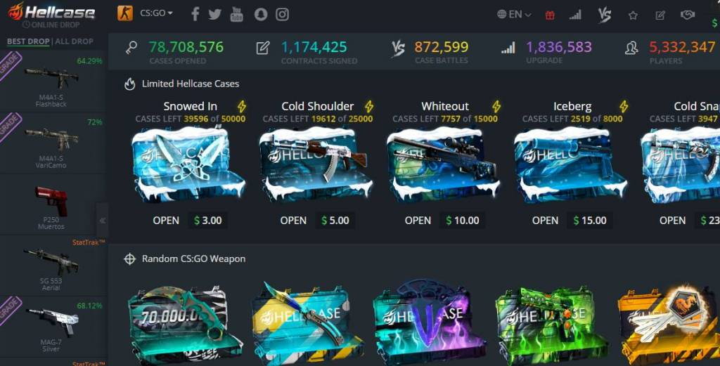 Hellcase.com - your favorite CSGO case opening site