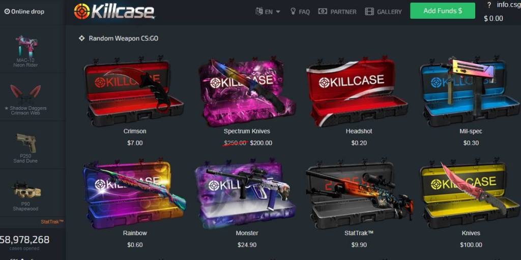 Killcase open cases of CSGO profitable