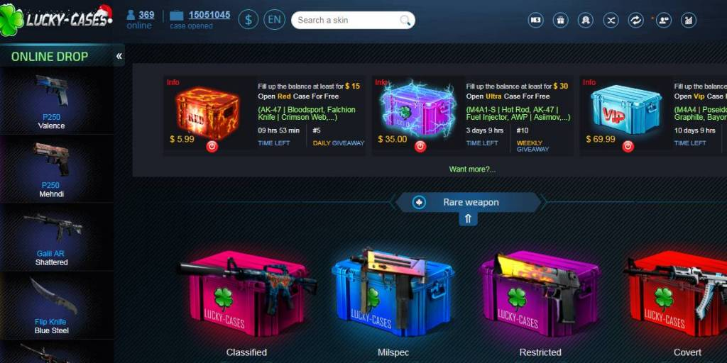 Lucky-cases.com is the best cs go marketplace and cs go skin store