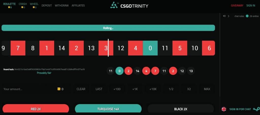 TRINITY - Best CSGO Casino
