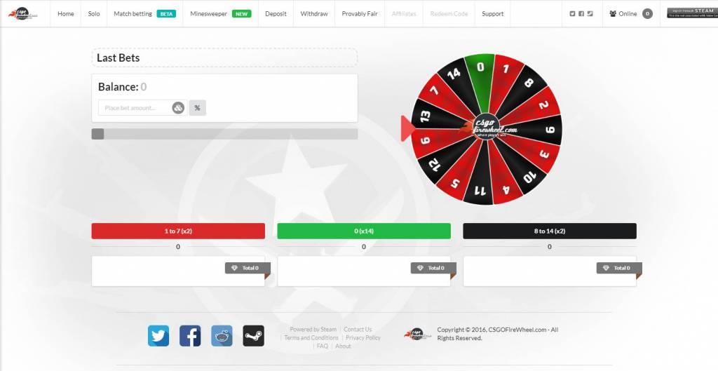 CSGOFireWheel.com - CSGO Roulette, Wheel