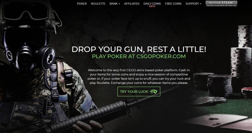 CSGOPoker.com - Poker - Roulette - Free Coins