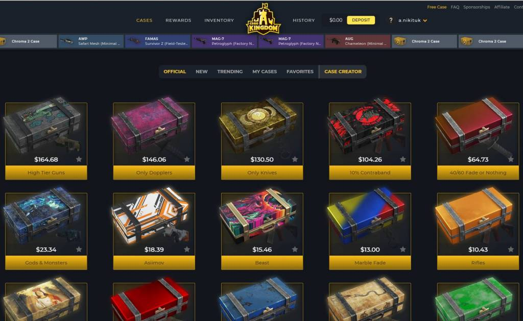 CSGOKingdom - Open CS:GO cases