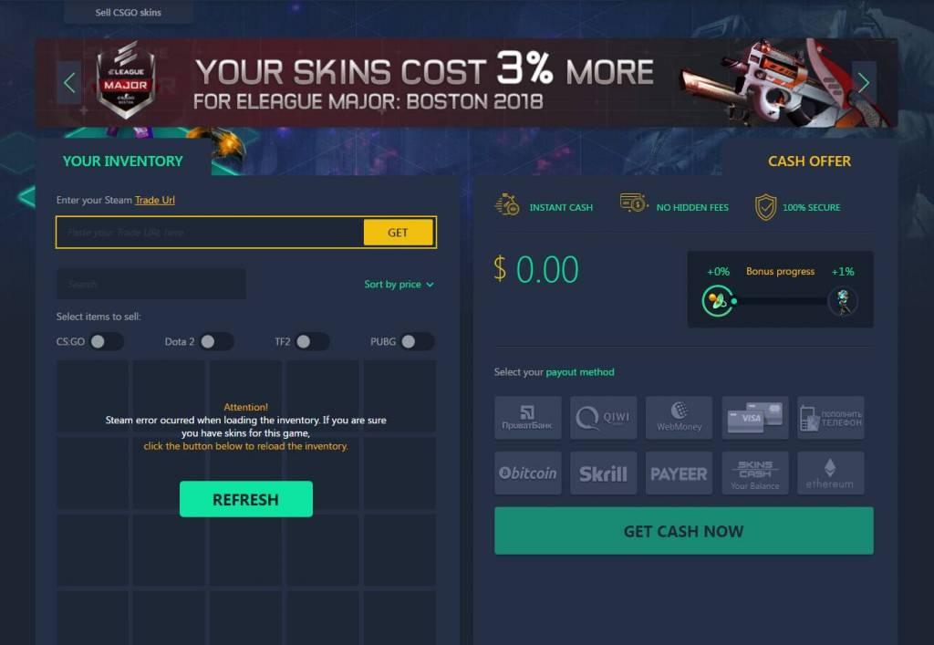 Skins.cash | Sell CSGO Skins