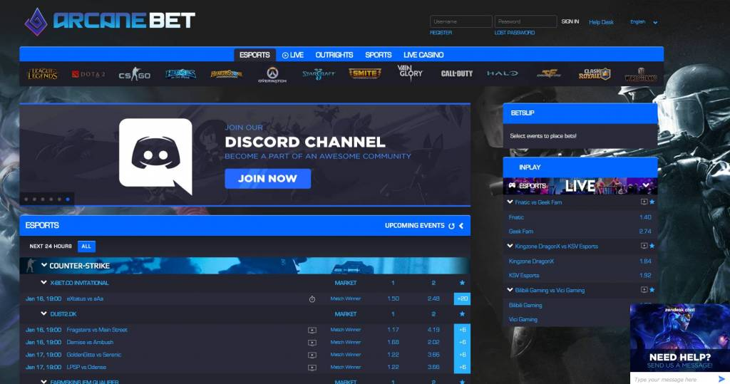 arcanebet - esports betting, best pre and live odds