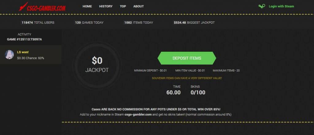 CSGO-GAMBLER.COM YOUR CHANCE TO WIN CSGO SKINS